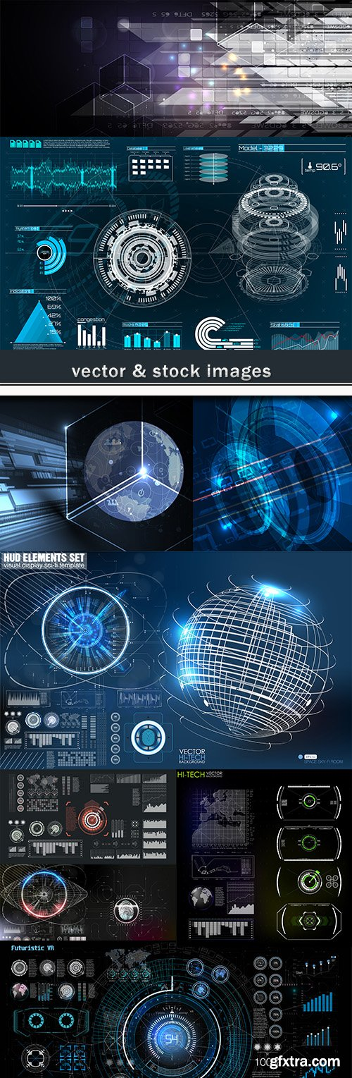 Technology system futuristic design background