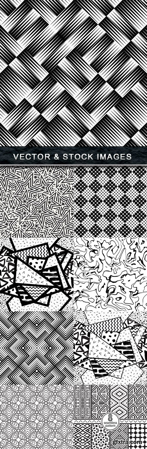 Modern geometric abstract pattern black wave design 25