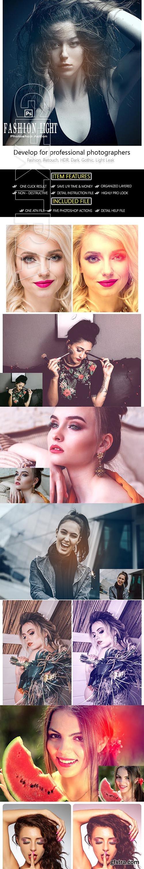 GraphicRiver - Fashion Light Leak Photoshop Action 23648956