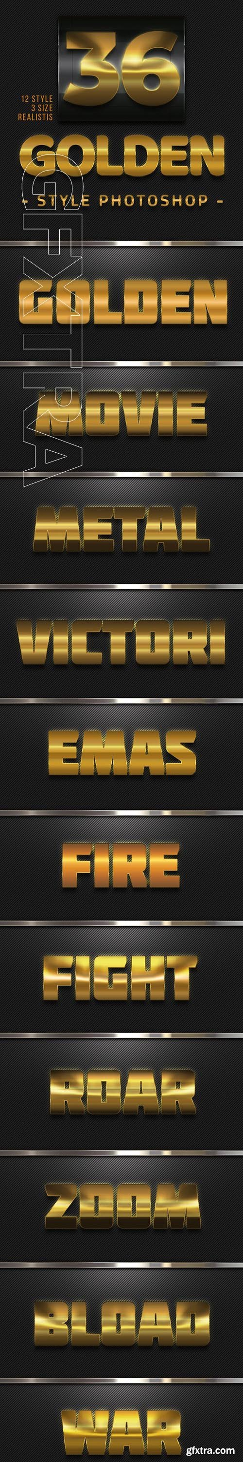 GraphicRiver - 36 Golden Style Photoshop 23687967