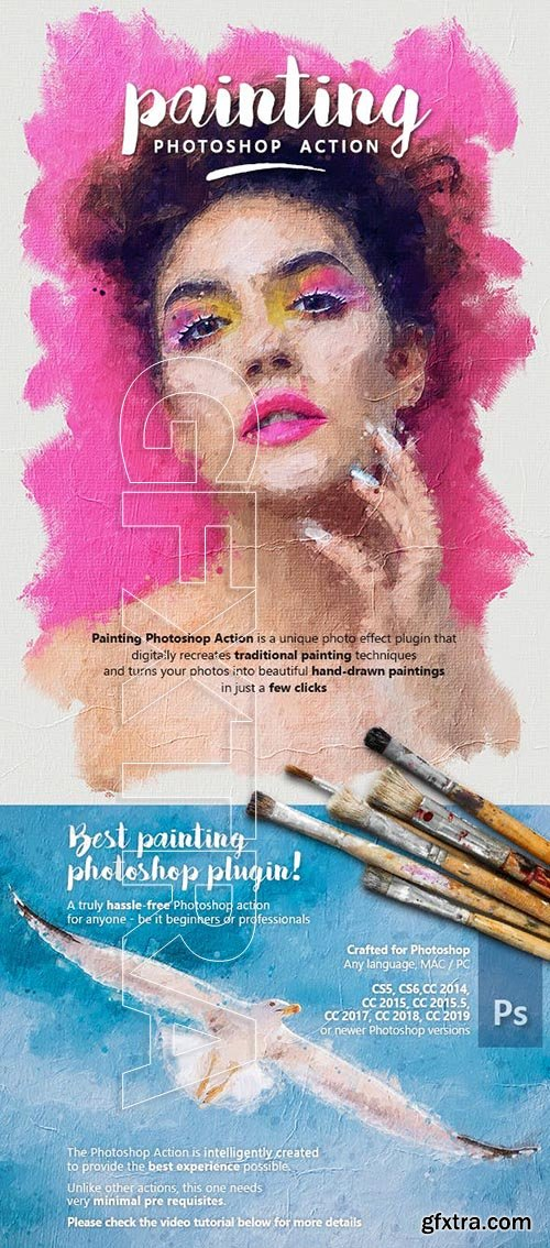 GraphicRiver - Painting Photoshop Action 23750254