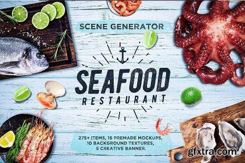 CreativeMarket Mega Bundle Restaurant Scene Creator 3738881