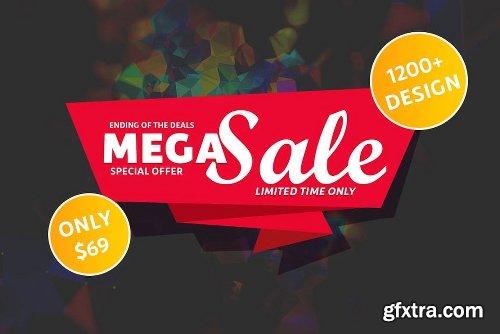 CreativeMarket 1200+ Tshirt Design Mega Sale 3625889