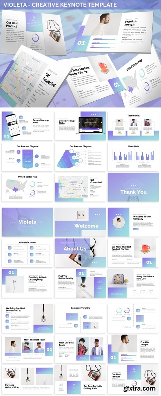 Violeta - Creative Keynote Template
