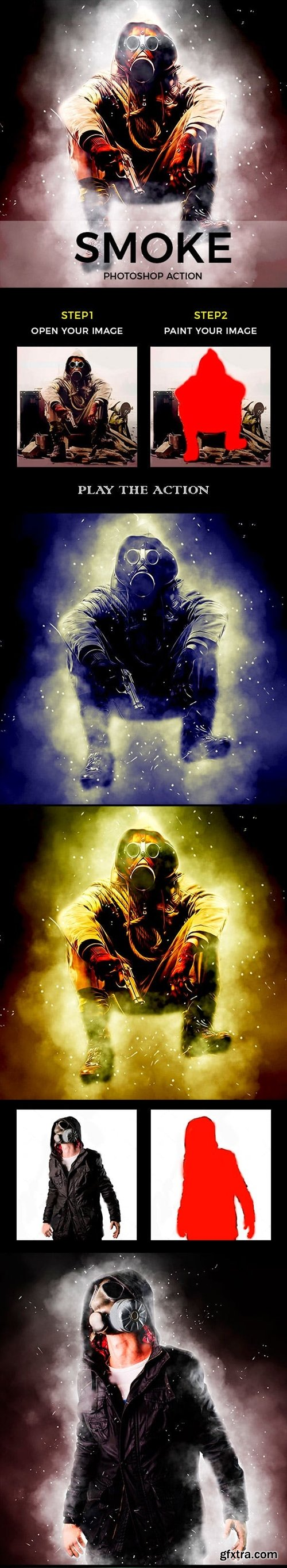 Graphicriver - Smoke Photoshop Action 20971221