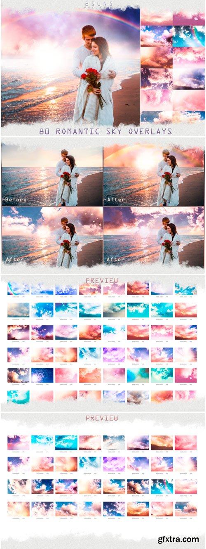 80 Romantic Sky Overlays Textures Clouds 1323520