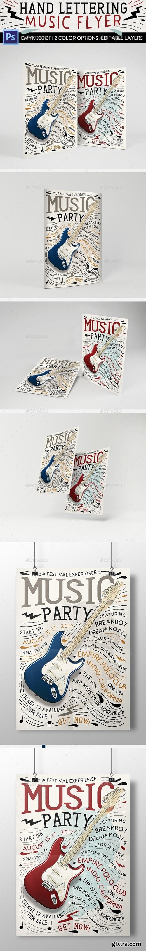 Graphicriver - Hand Lettering Music Flyer 15929923