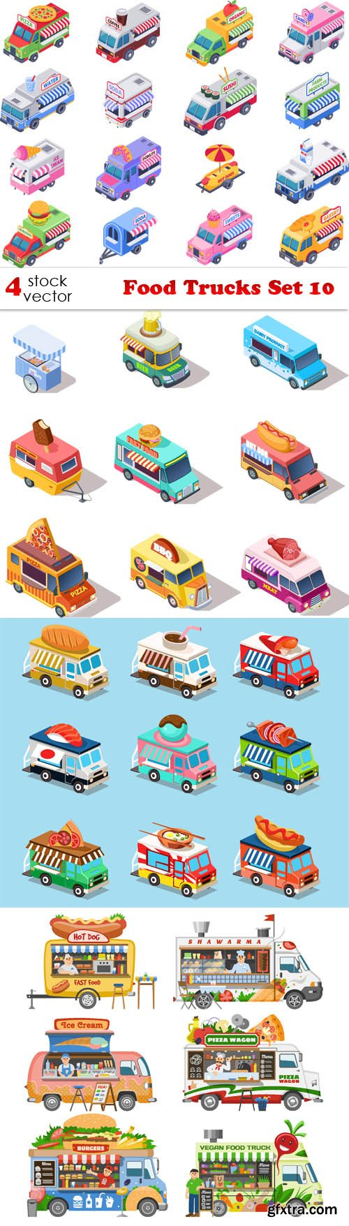 Vectors - Food Trucks Set 10