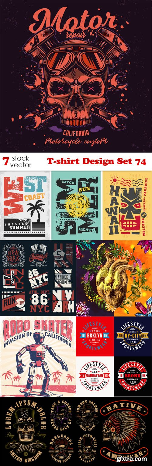 Vectors - T-shirt Design Set 74