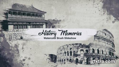 Videohive History Memories // Watercolor Brush Slideshow 23766732