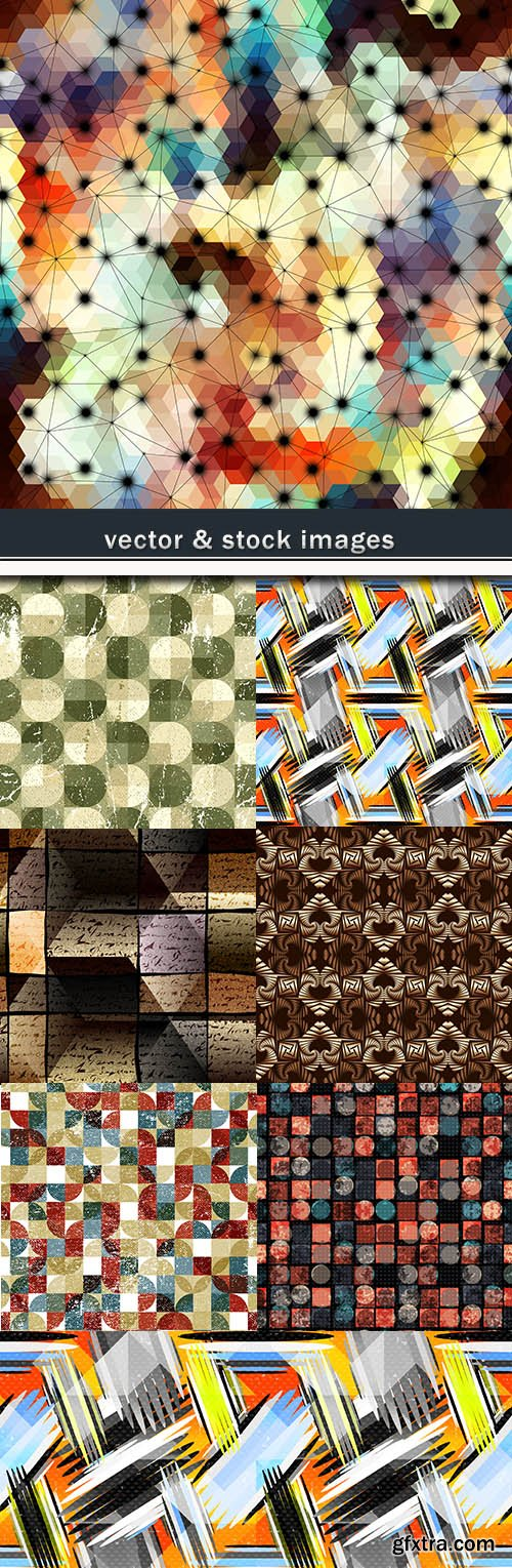 Grunge creative abstract geometric background effect