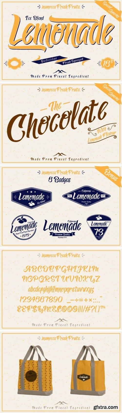 CM - Lemonade font with 5 Badges Bonus 104410