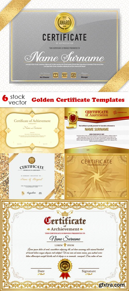 Vectors - Golden Certificate Templates