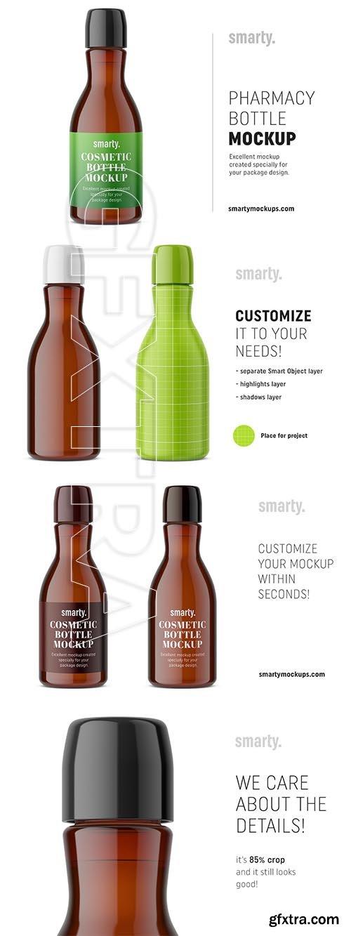 CreativeMarket - Amber pharmacy bottle mockup 3755843