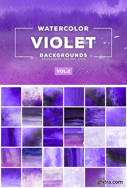 Watercolor Violet Backgrounds Vol.2