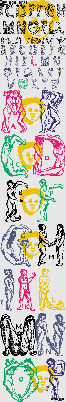 Menschenalphabet Font