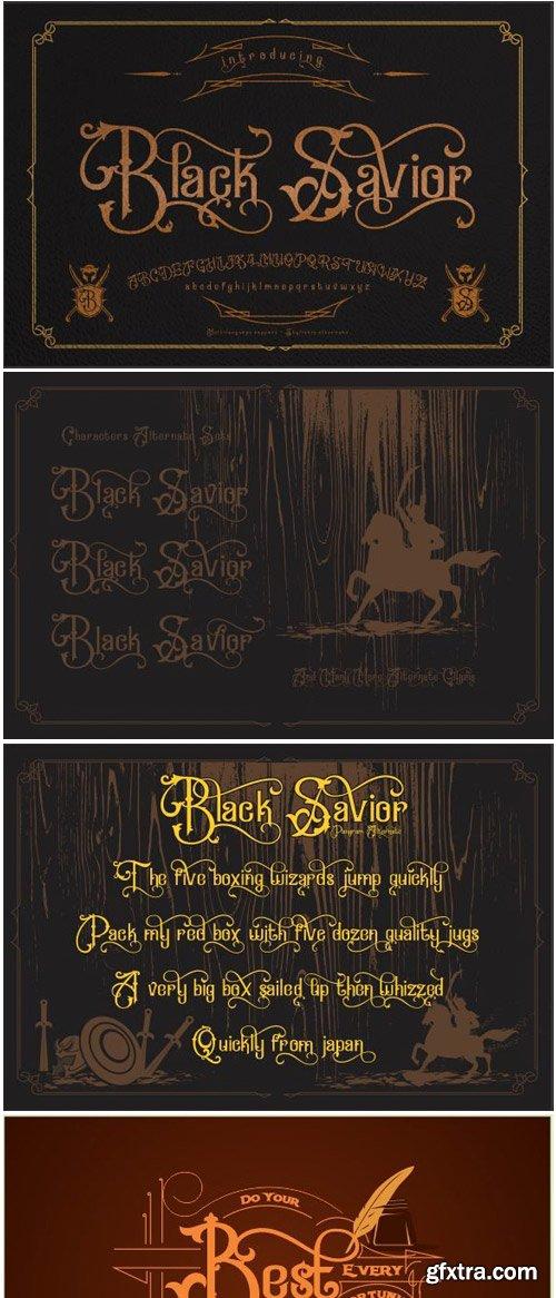 Black Savior Font