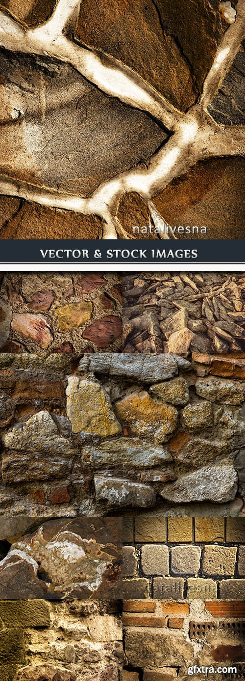 Old brick and stone wall grunge background