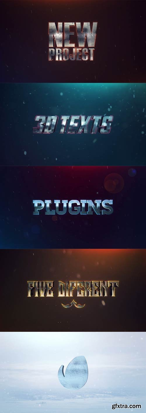 Videohive - 3D Texts Effects - No Plugins - 21849195