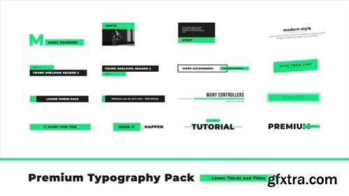 Videohive - Premium Typography Pack - 23332394