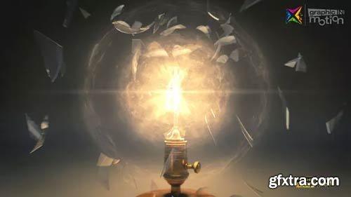 Videohive - Vintage Light Bulb Explosion Logo - 23738254