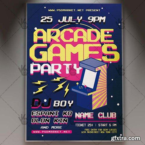 Arcade Game Flyer – PSD Template