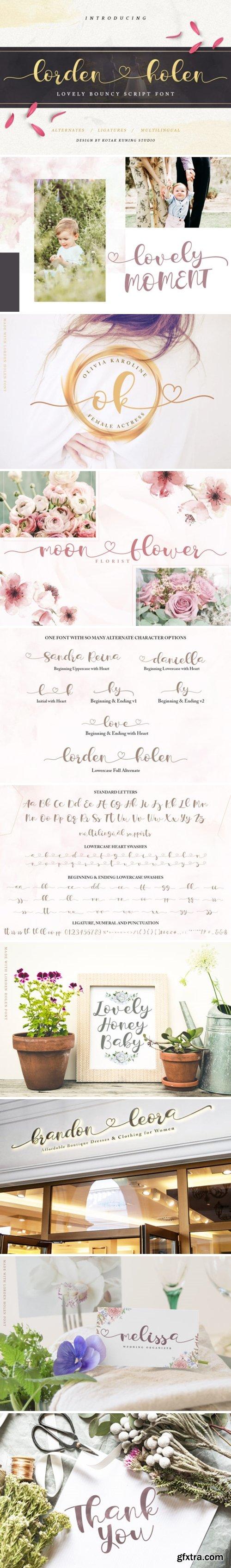 CM - Lorden Holen Lovely Script 3651889