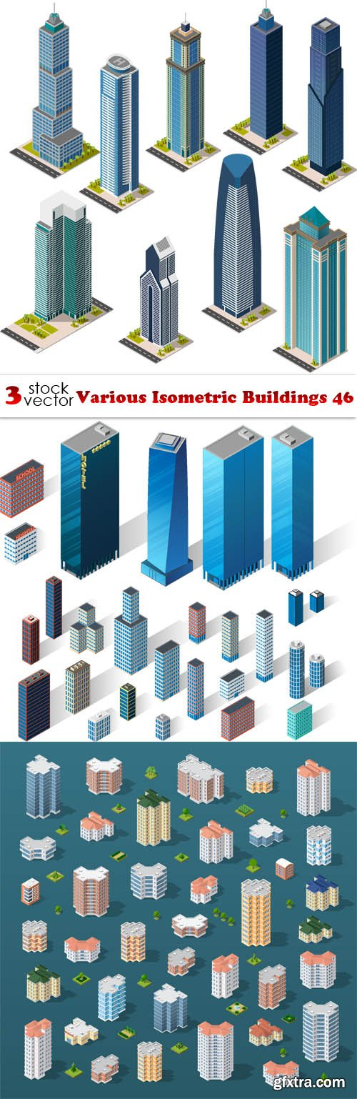 Vectors - Various Isometric Buildings 46