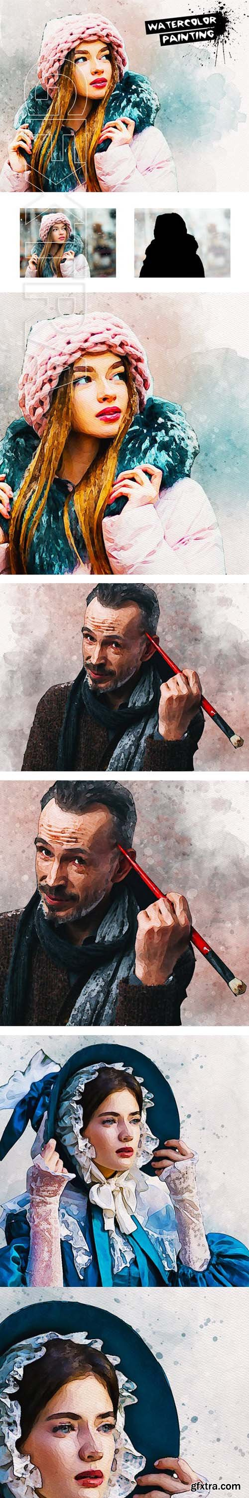 GraphicRiver - Watercolor Painting PS Action 23671910