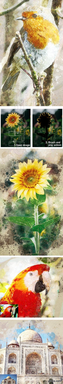 GraphicRiver - Amazing Watercolor Art Photoshop Action Vol 2 23668353