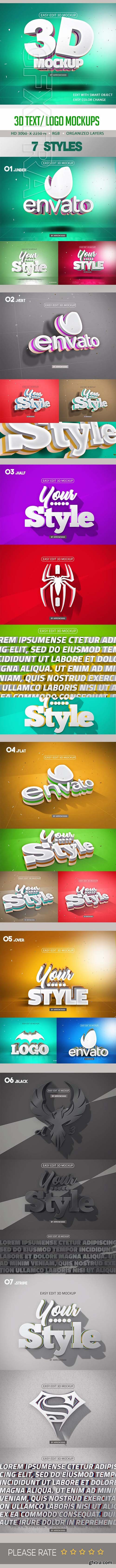 GraphicRiver - 3D Text Logo Mockup 23720872