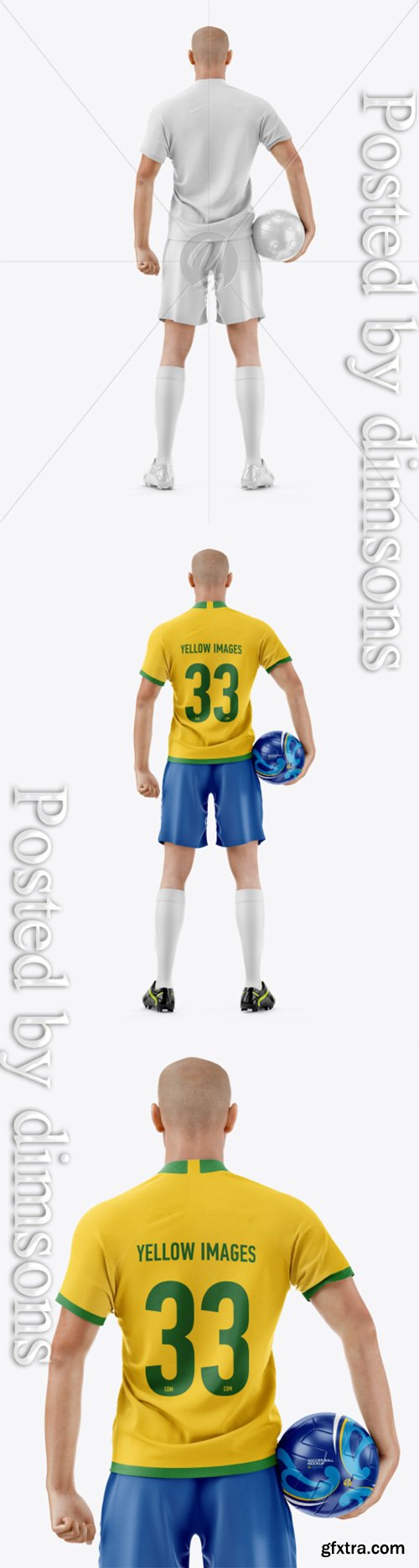 Soccer Player with Ball Mockup 41273