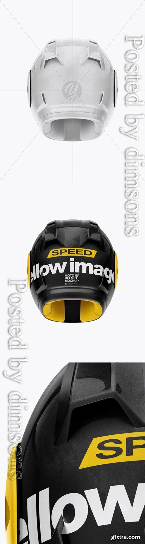 Moto GP Helmet Mockup - Back View 24952