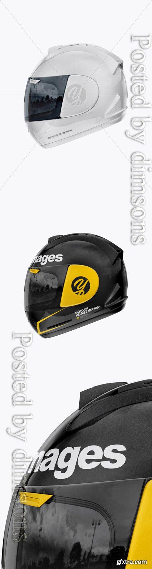 Moto GP Helmet Mockup - Side View 25088