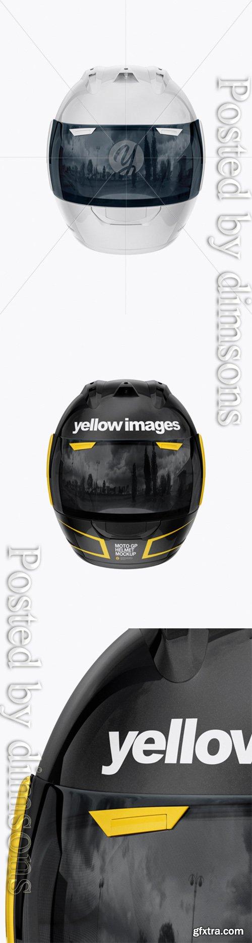 Moto GP Helmet Mockup - Front View 24958