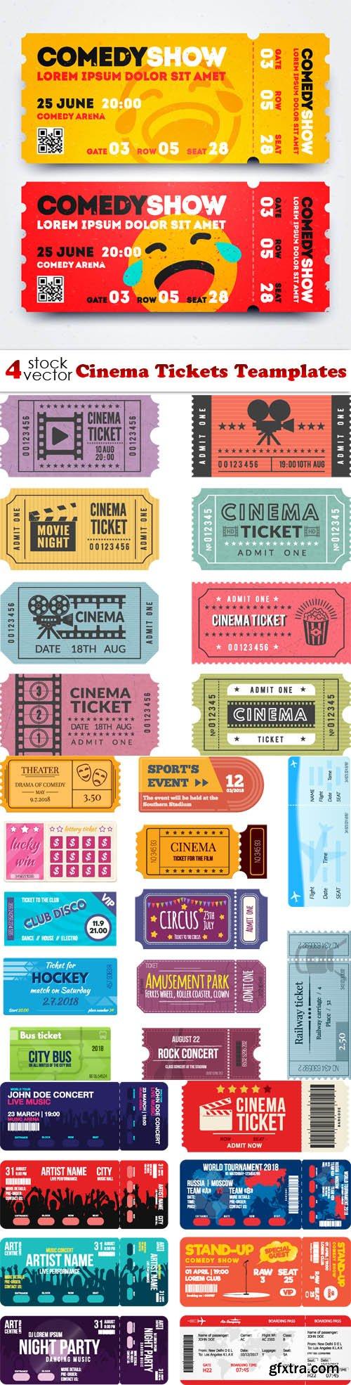 Vectors - Cinema Tickets Teamplates