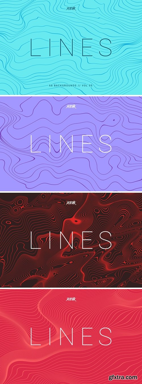 Lines | Abstract Wavy Backgrounds | Vol. 05