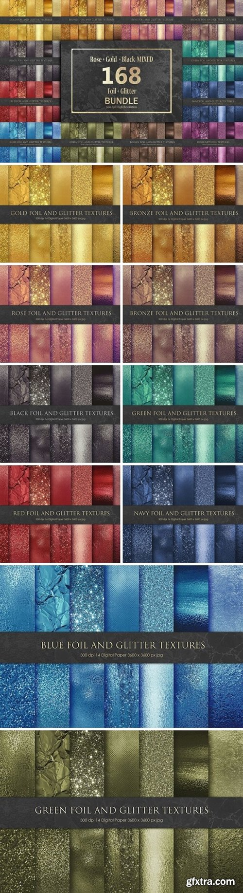 Foil and Glitter Bundle 168 Textures