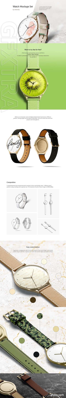 CreativeMarket - Watch Mockups Set 3764529