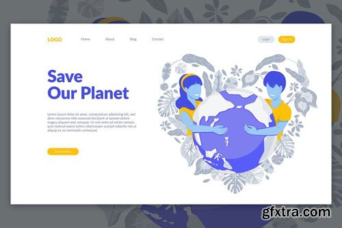 Save our Planet Landing Page Illustration