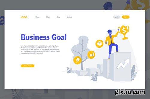 Business Goal Landing Page Illustration