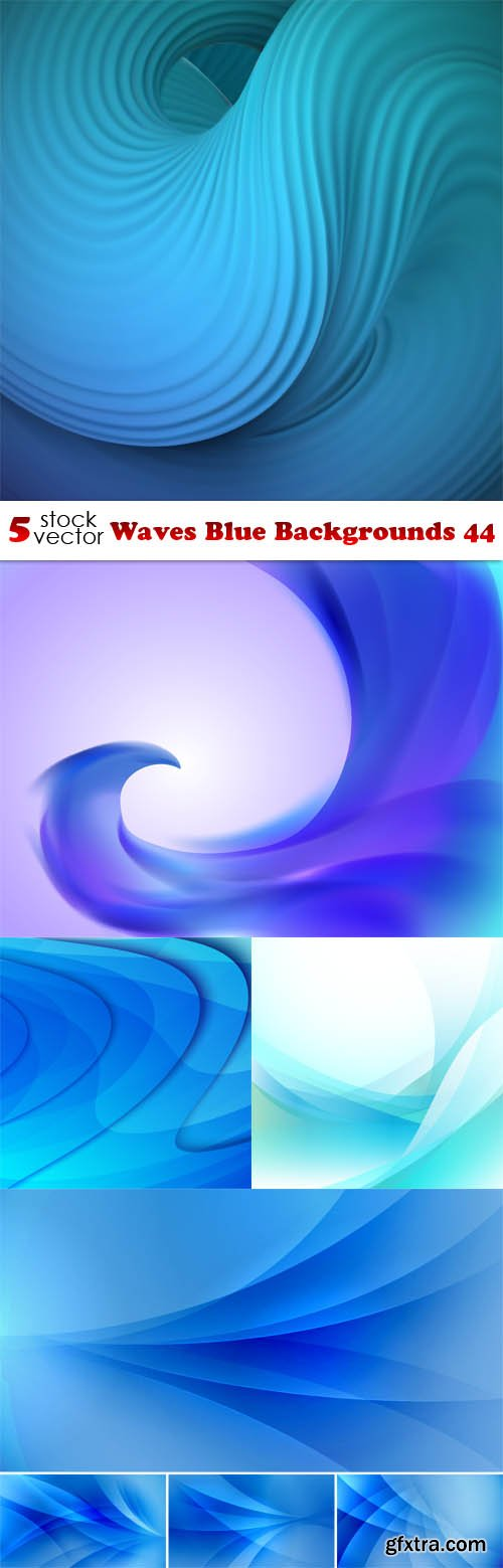 Vectors - Waves Blue Backgrounds 44