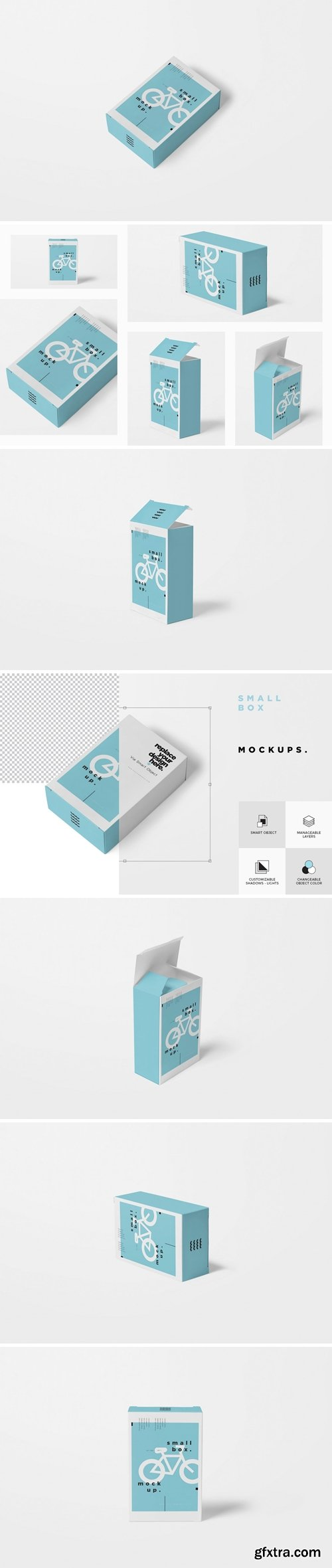CM - Small cardboard box mockups 3483309