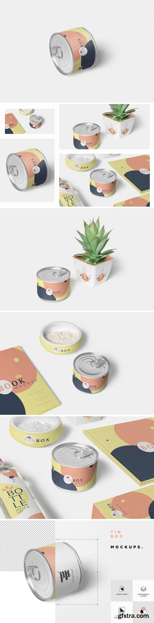 CM - Food Tin Packaging Mockups 3483317