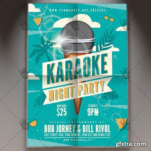 Karaoke Flyer – PSD Template