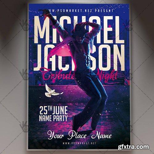 Michael Jackson Tribute Night Flyer – PSD Template