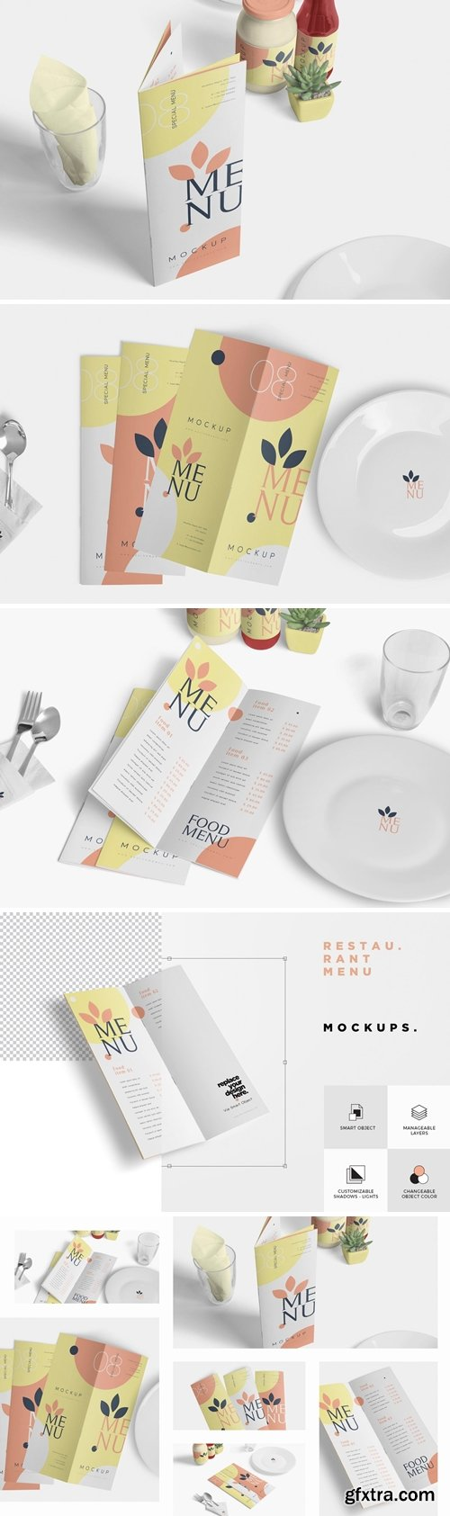 CM - Food Menu Book Mockups 3513670