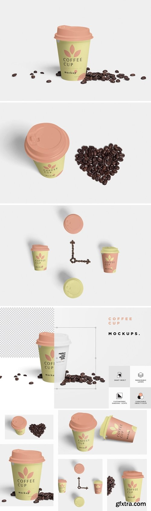 CM - Disposable Coffee Cup Mockups 3516761