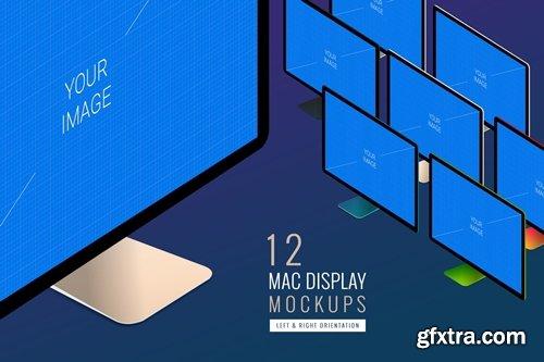 12 Mac Display Monitor PSD Mockups