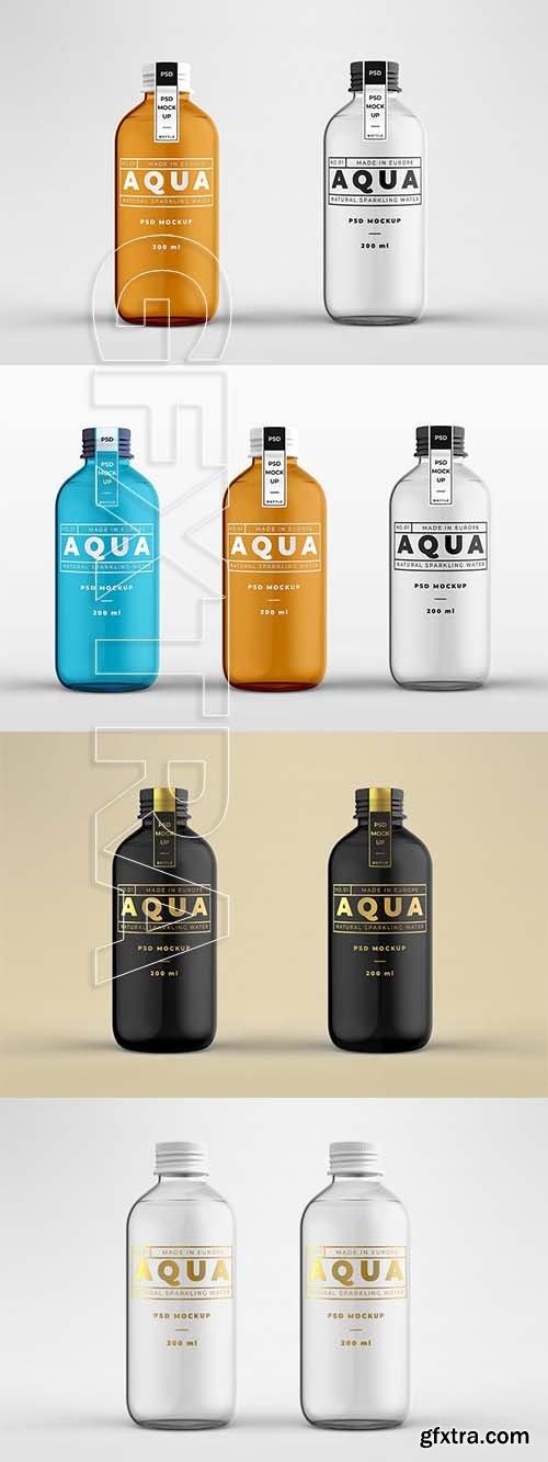 CreativeMarket - Glass Bottle Mock-up Template 3552637